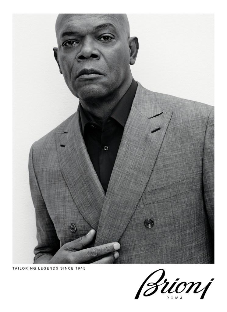 Samuel L. Jackson in Brioni's ad campaign for spring