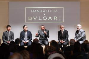 attends Bvlgari Manifattura Opening on March 17, 2017 in Valenza, Italy.