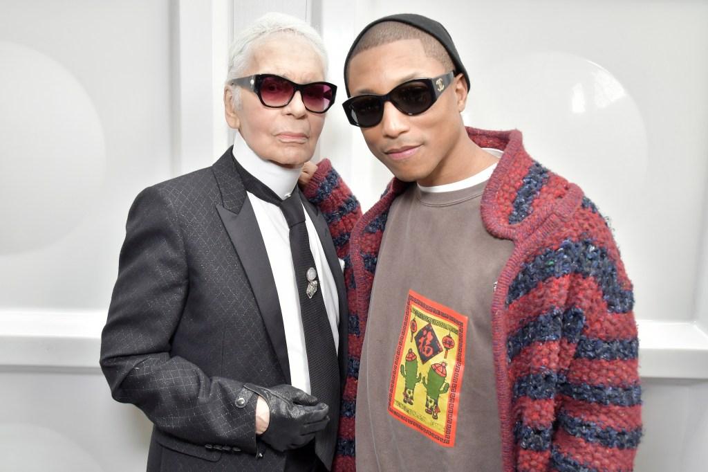 Karl Lagerfeld and Pharrell Williams backstageChanel show, Fall 2017