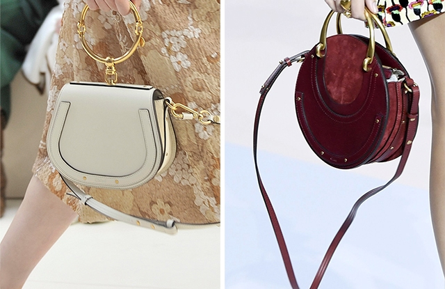Chloé's spring '17 Nile bag (left), and fall '17 Pixie bag (right).