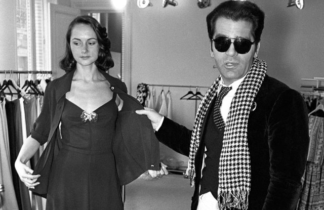 Karl Lagerfeld showing his Spring 1973 Ready to Wear line for Chloe.