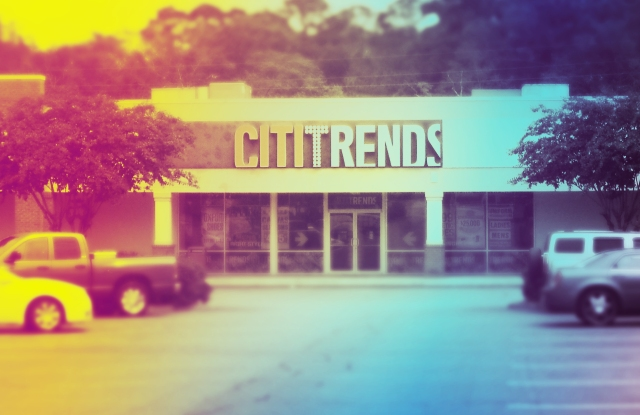A Citi Trends storefront.