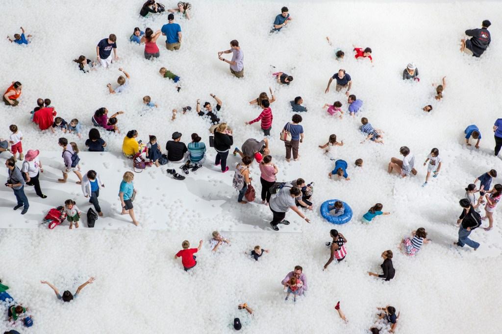 "Snarkitecture's installation ""The Beach"""