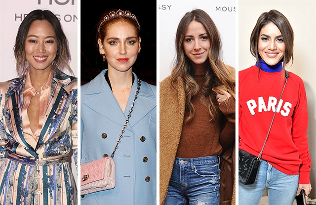 Aimee Song, Chiara Ferragni, Arielle Charnas and Camila Coelho.