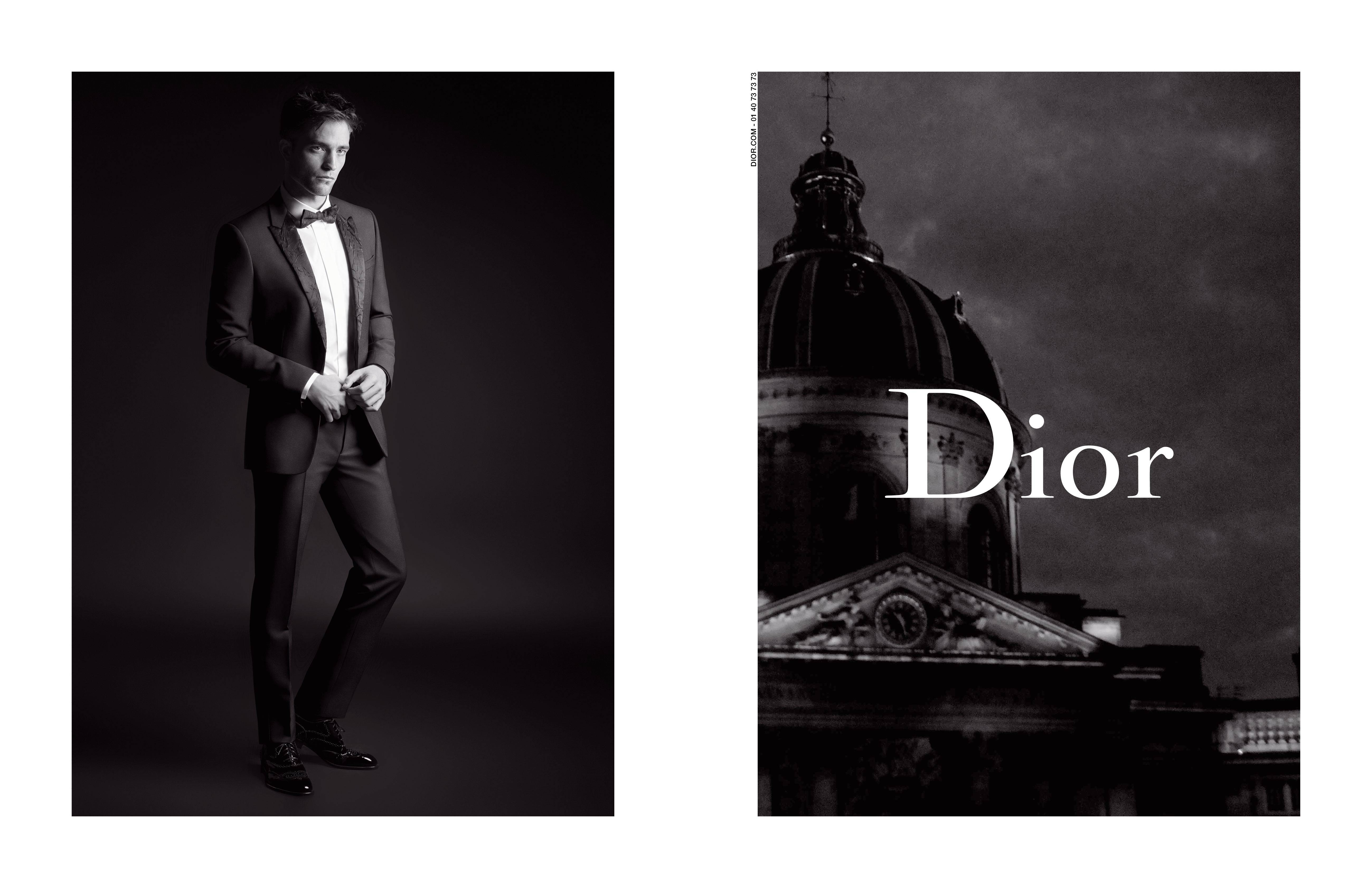 Robert Pattinson in the Dior Homme campaign.