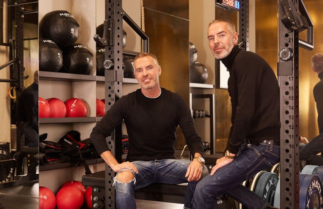 The Caten brothers in their new gym.