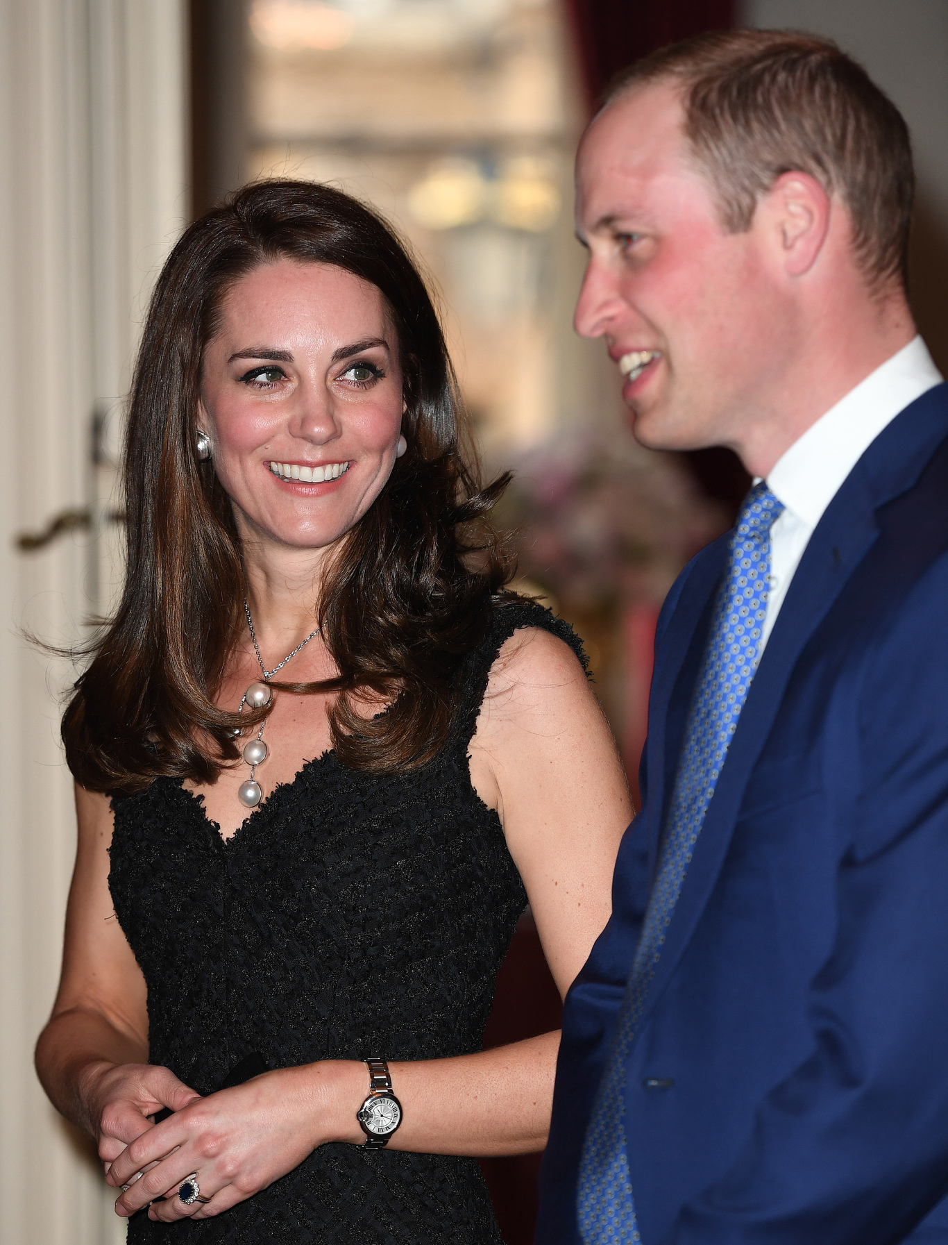 """28 Days UK OutMandatory Credit: Photo by REX/Shutterstock (8523329h)Catherine Duchess of Cambridge and Prince WilliamPrince William and Catherine Duchess of Cambridge visit to Paris, France - 17 Mar 2017The Duke and Duchess of Cambridge attend a reception to mark the launch of """"Les Voisins"""" hosted by the British Ambassador at the British Embassy"""
