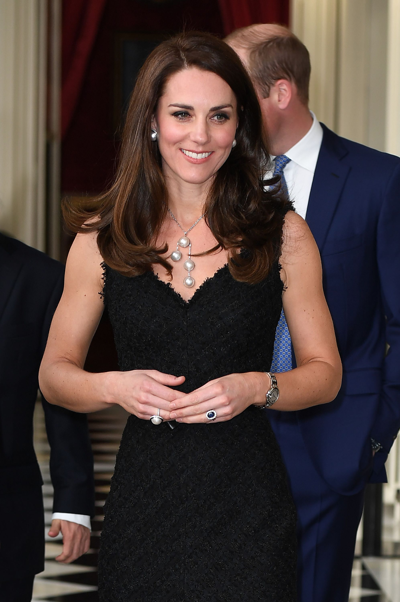 """28 Days UK OutMandatory Credit: Photo by REX/Shutterstock (8523329l)Catherine Duchess of CambridgePrince William and Catherine Duchess of Cambridge visit to Paris, France - 17 Mar 2017The Duke and Duchess of Cambridge attend a reception to mark the launch of """"Les Voisins"""" hosted by the British Ambassador at the British Embassy"""