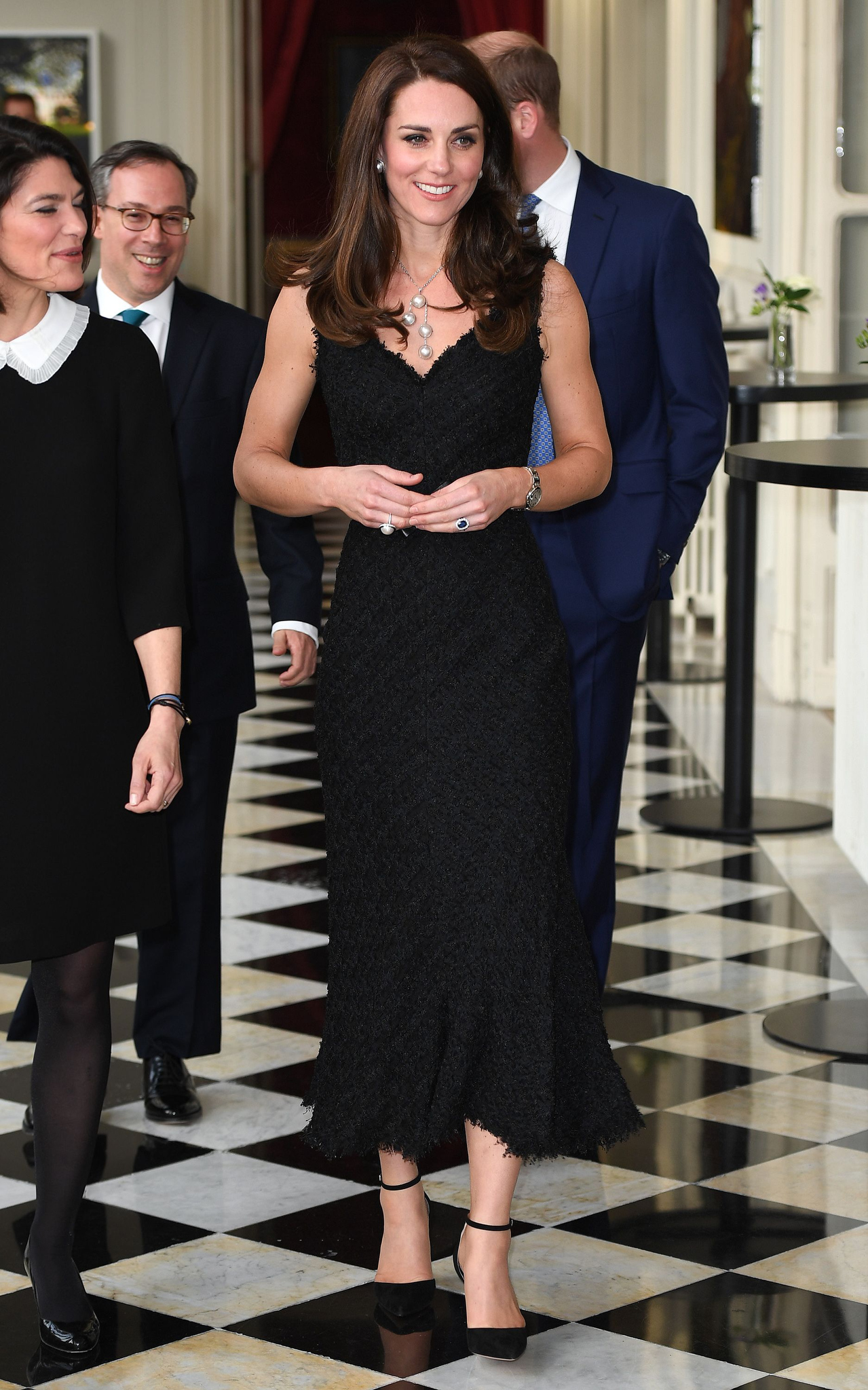 """28 Days UK OutMandatory Credit: Photo by REX/Shutterstock (8523329m)Catherine Duchess of CambridgePrince William and Catherine Duchess of Cambridge visit to Paris, France - 17 Mar 2017The Duke and Duchess of Cambridge attend a reception to mark the launch of """"Les Voisins"""" hosted by the British Ambassador at the British Embassy"""