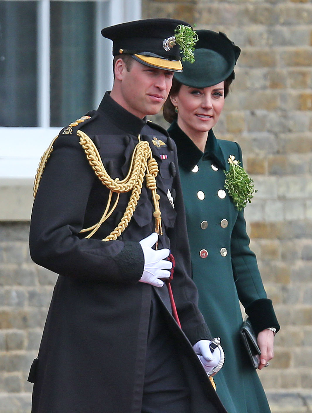 The Duke and Duchess of Cambridge (in Catherine Walker)