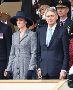 The Duchess of Cambridge (in Michael Kors Collection) and Philip Hammond