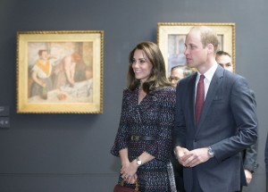 Prince William and the Duchess of Cambridge (in Chanel) visit the Musee D'Orsay on the second day of their official visit to Paris.
