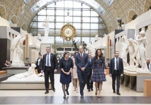 Prince William and Catherine Duchess of Cambridge visit the Musee D'Orsay on the second day of their official visit to Paris.Prince William and Catherine Duchess of Cambridge visit to Paris, France - 18 Mar 2017