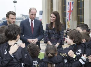 Prince William and Catherine Duchess of Cambridge speak to young French rugby fans at an event at the Trocadero in Paris, France, to highlight the ties between the young people of France and the UK on day two of their visit to the French capital.Prince William and Catherine Catherine Duchess of Cambridge visit to Paris, France - 18 Mar 2017