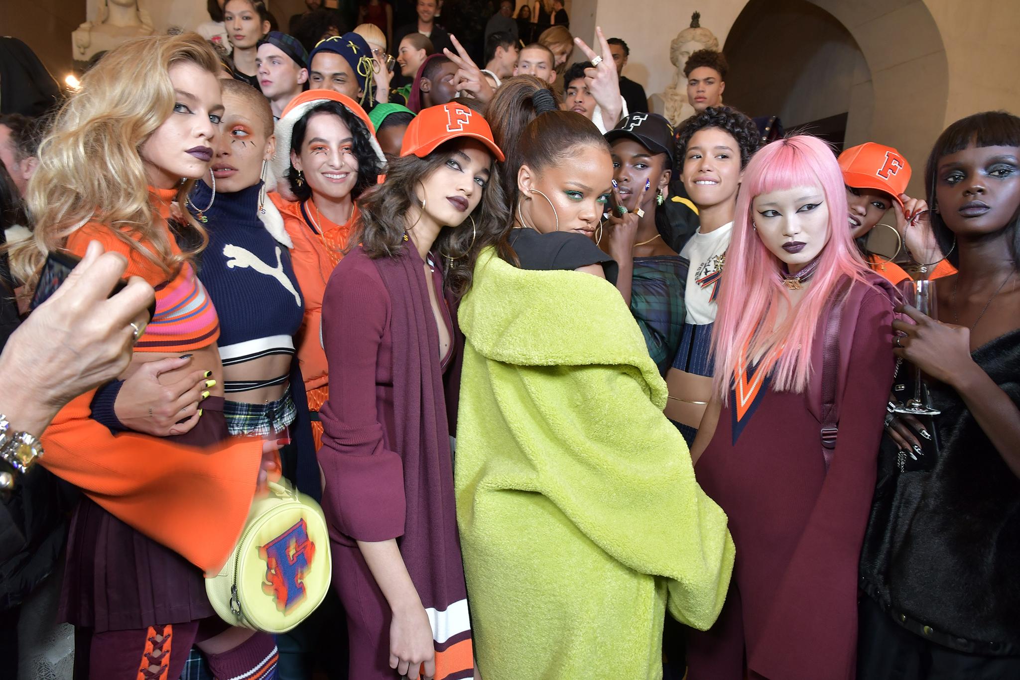 Rihanna and models