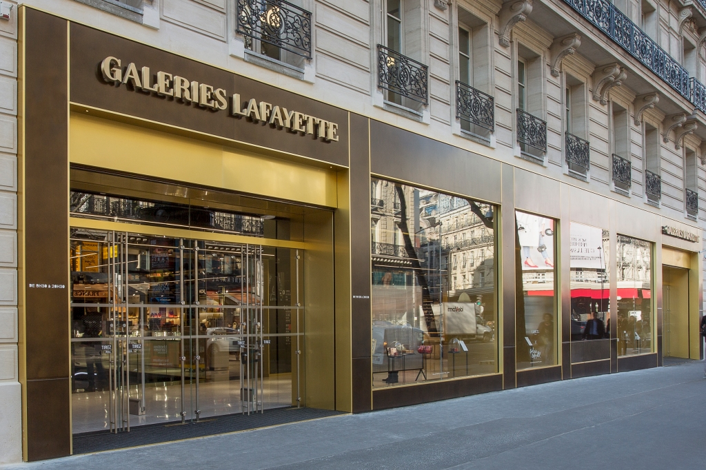 The new Galeries Lafayette Shopping and Welcome Center in Paris.