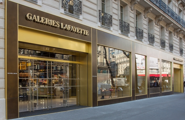 The Galeries Lafayette Shopping and Welcome Center in Paris.