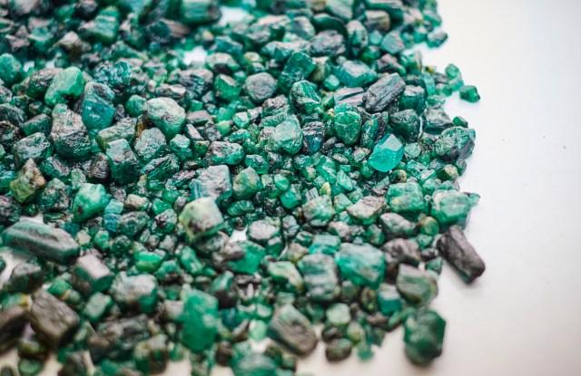 Gemfields rough emeralds