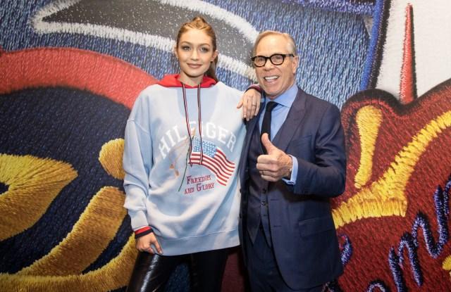 Gigi Hadid and Tommy Hilfiger