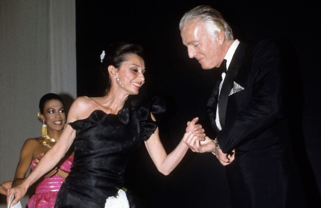 Hepburn, Audrey W/ Givenchy1982Marie Helene de RGuy de Rothschild