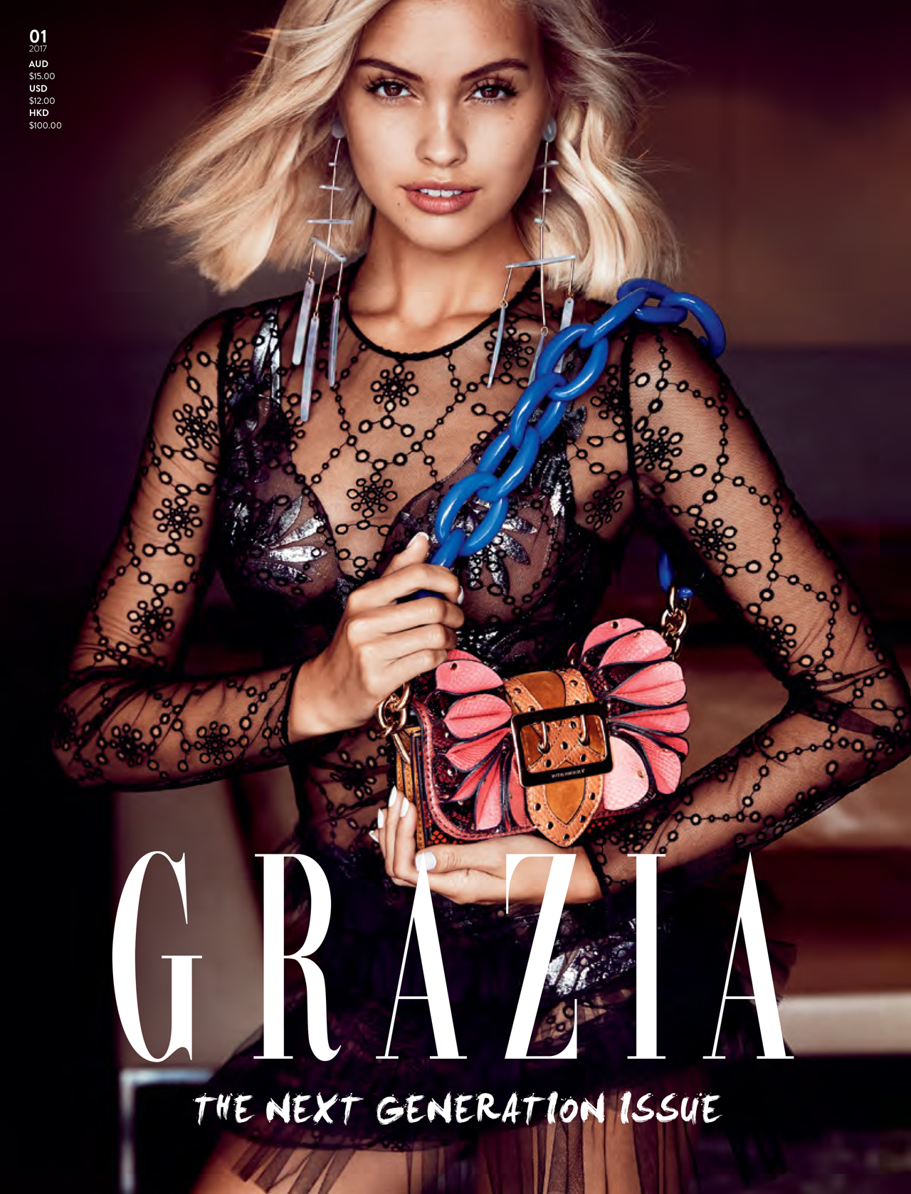 The cover of the first issue of the relaunched Grazia Australia.