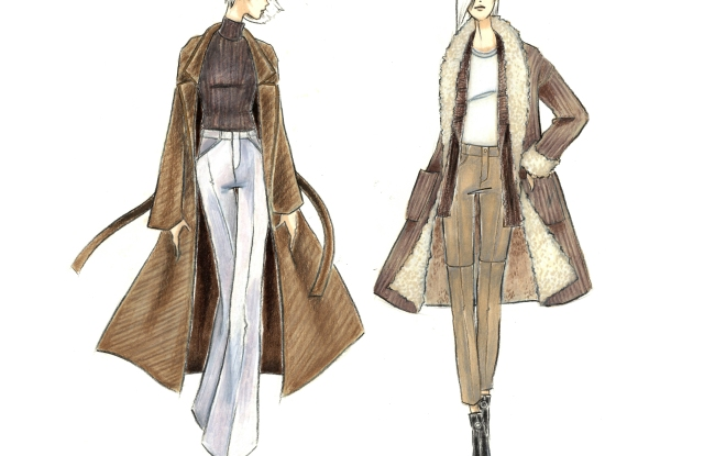 A sketch of the Andrew Fezza women's line.