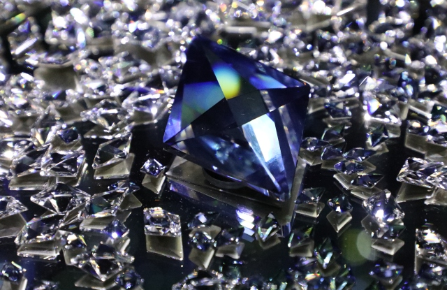 One of the crystals designed by Chris Bangle for Swarovski