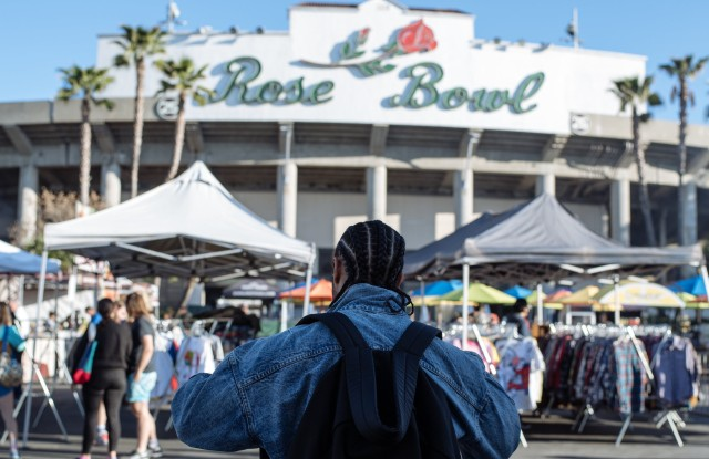 """""""Every time you're here, it feels like you're walking through history,"""" Lorenzo said of the Rose Bowl Flea Market in Pasadena, Calif."""