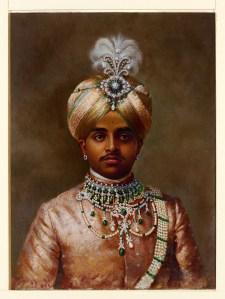 Portrait of Maharaja Sir Sri Krishnaraja Wodeyar Bahadur, circa 1906.