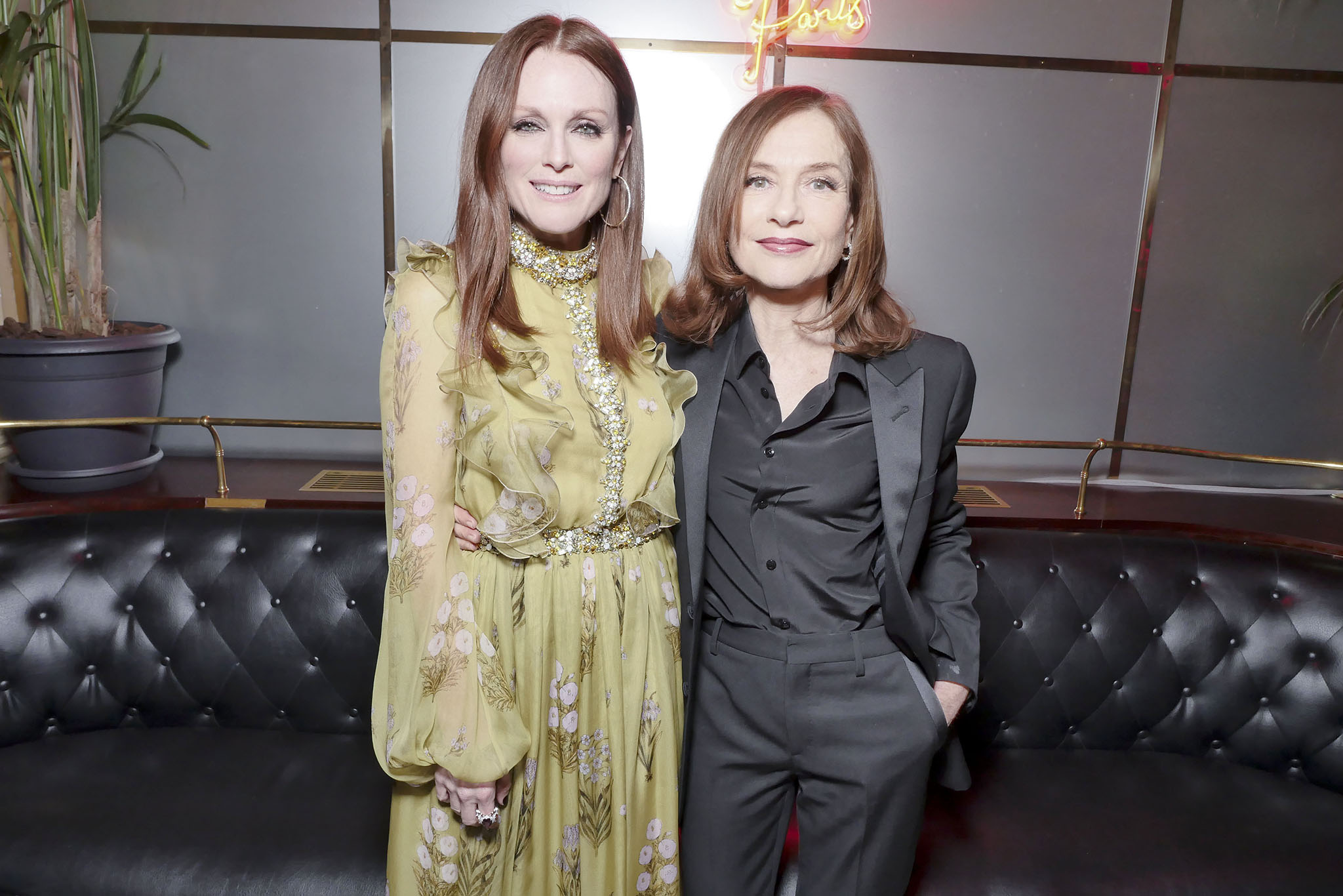 Julianne Moore and Isabelle Huppert