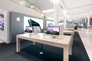 The Apple store at Macy's Herald Square in Manhattan.