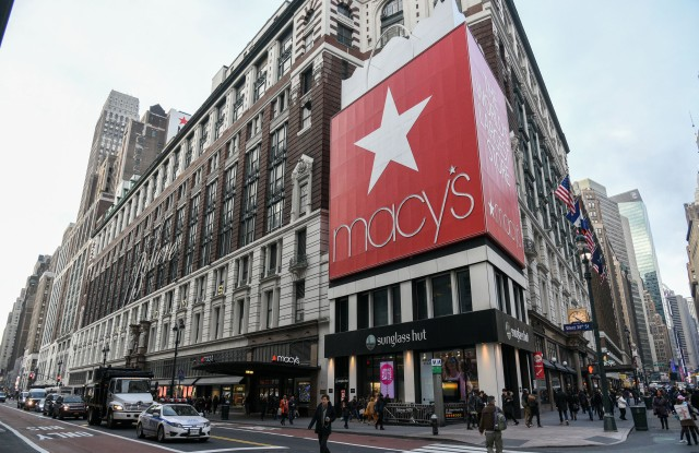 Macy's on Herald Square in ManhattanMacy's on Herald Square in Manhattan, New York, America - 07 Jan 2016After a disappointing 2015, Macy's plans to restructure its business and eliminate more than 4,500 positions. The retailer announced the locations of 36 stores closing across the U.S.