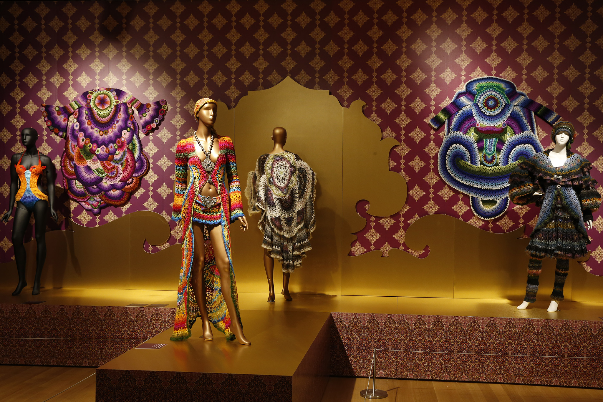 Inside 'Counter-Couture: Handmade Fashion in Counterculture' at the Museum of Arts and Design.