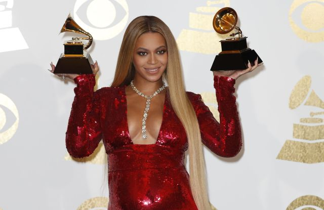 Beyonce at the 59 Annual Grammy Awards in 2017.