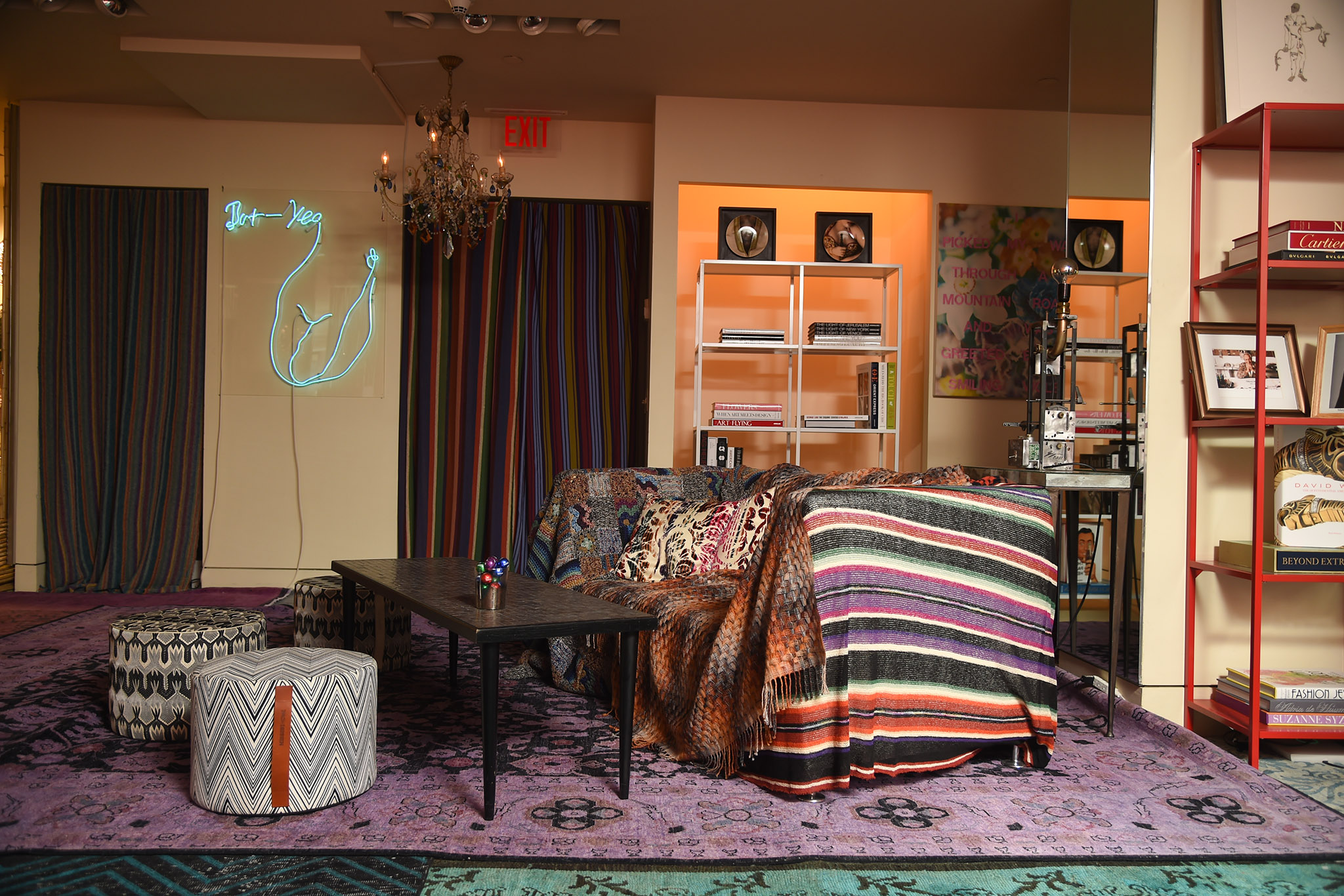 "A look at the ""Salotto Angela Missoni"" exhibit."