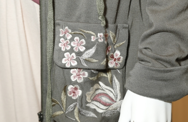 Embroidered detailing on a jacket from the Style Union line.