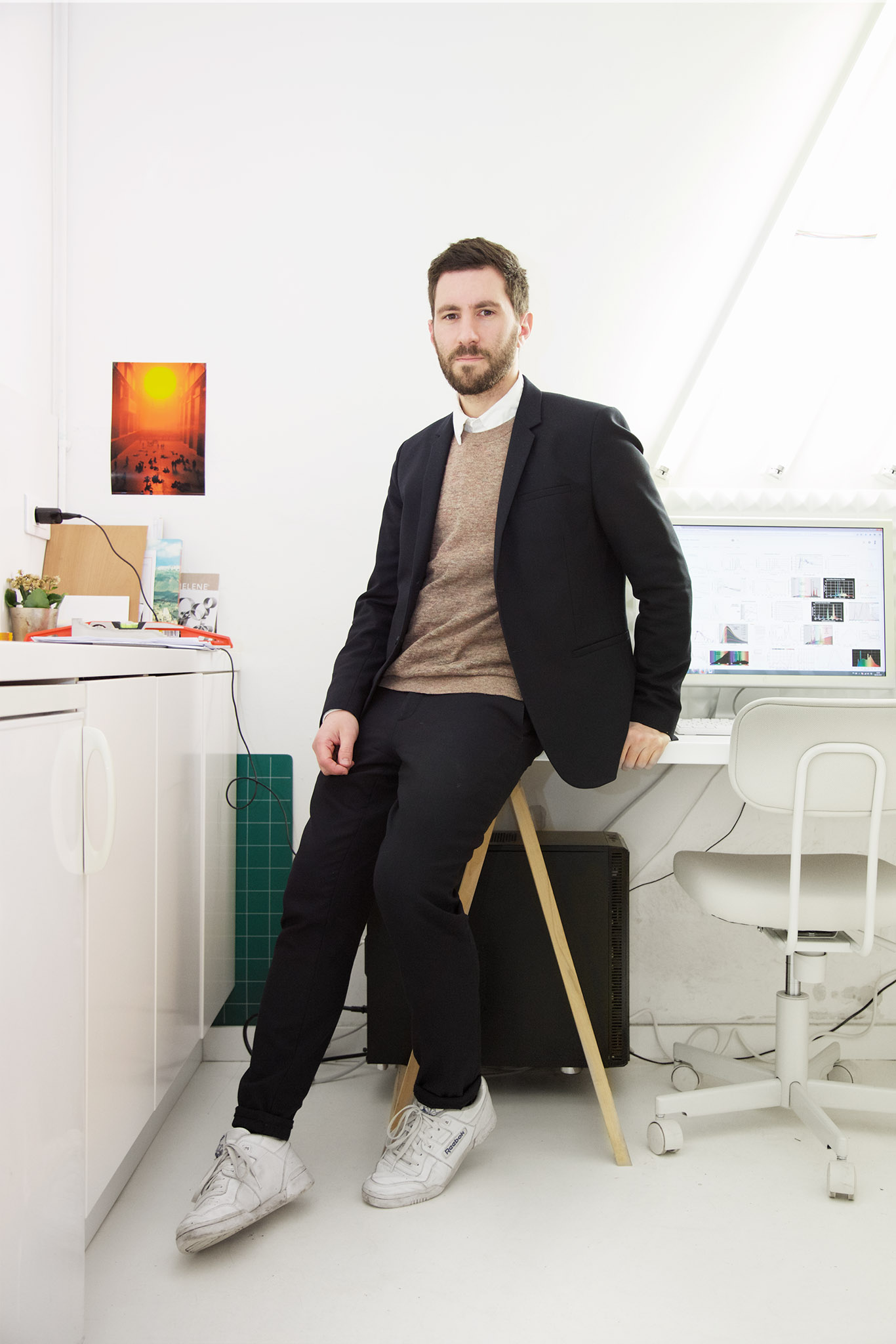 Nicolas Dorval-Bory in his workspace in Paris.