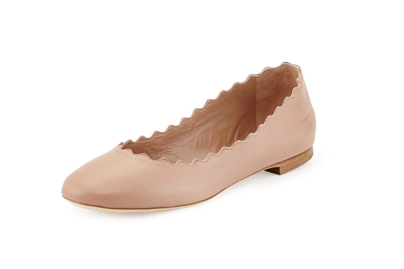 Chloé's staple shoe design - the Lauren ballet flat.