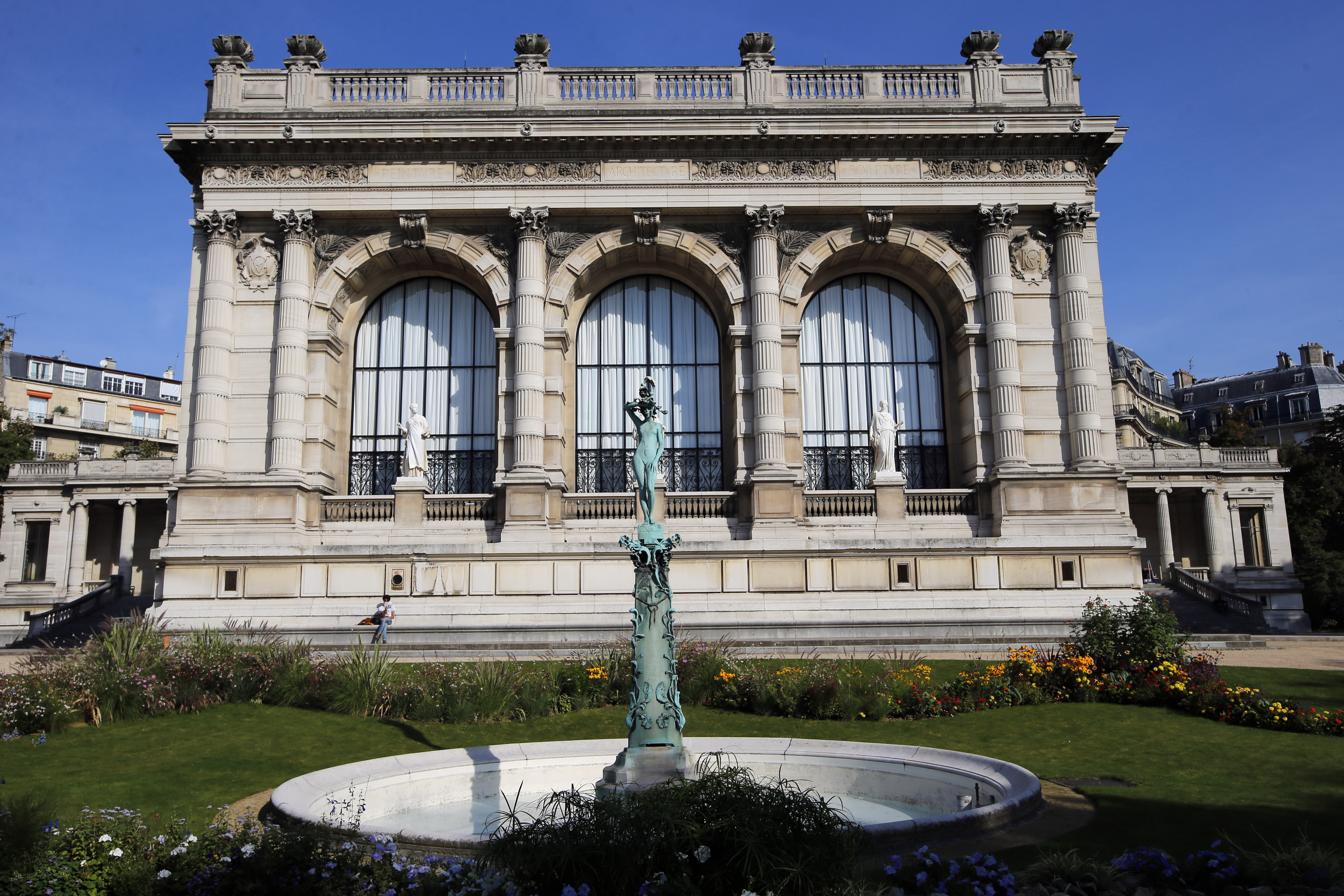 An exterior view from the garden of the Galliera Museum in Paris.