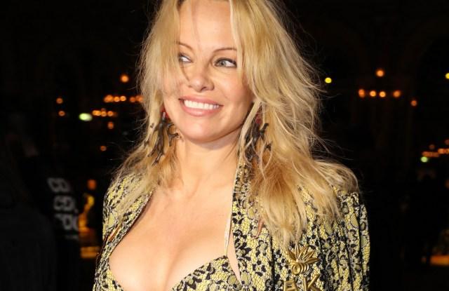 Pamela Anderson at Vivienne Westwood