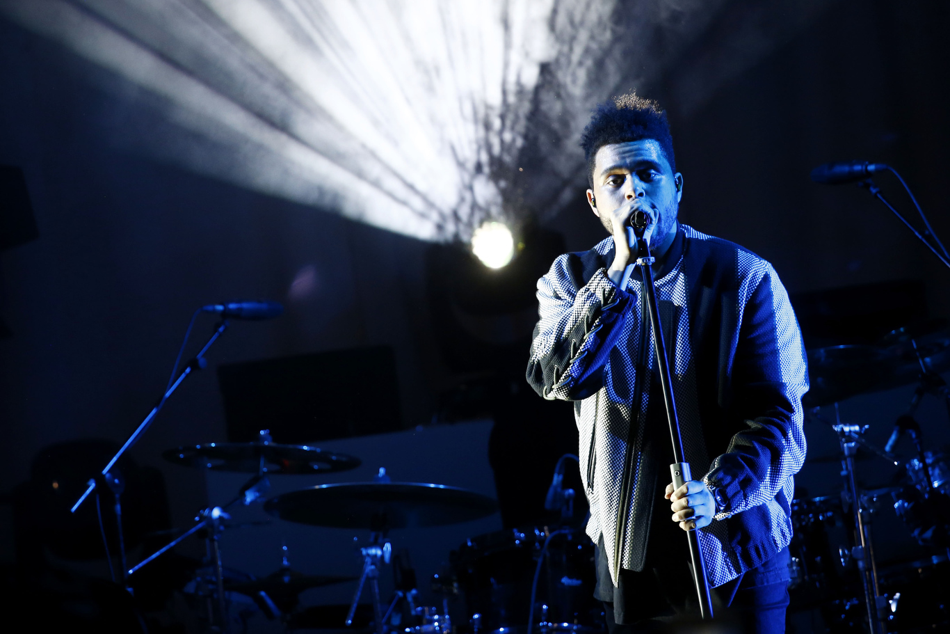 The Weeknd performing live after the show