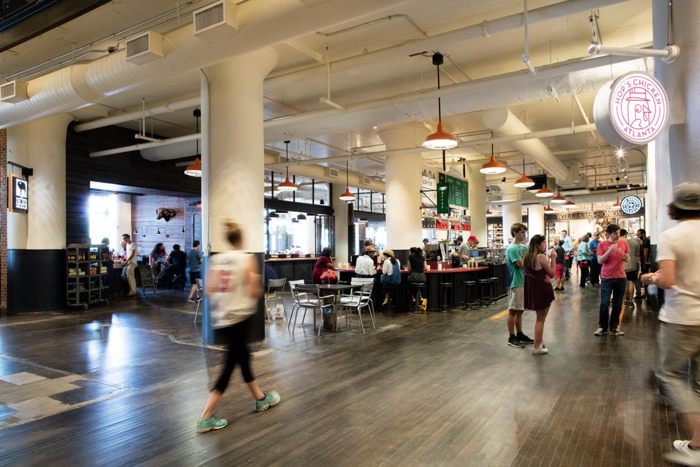 Spiller Park Coffee and Biltong Bar at Ponce City Market, Atlanta.