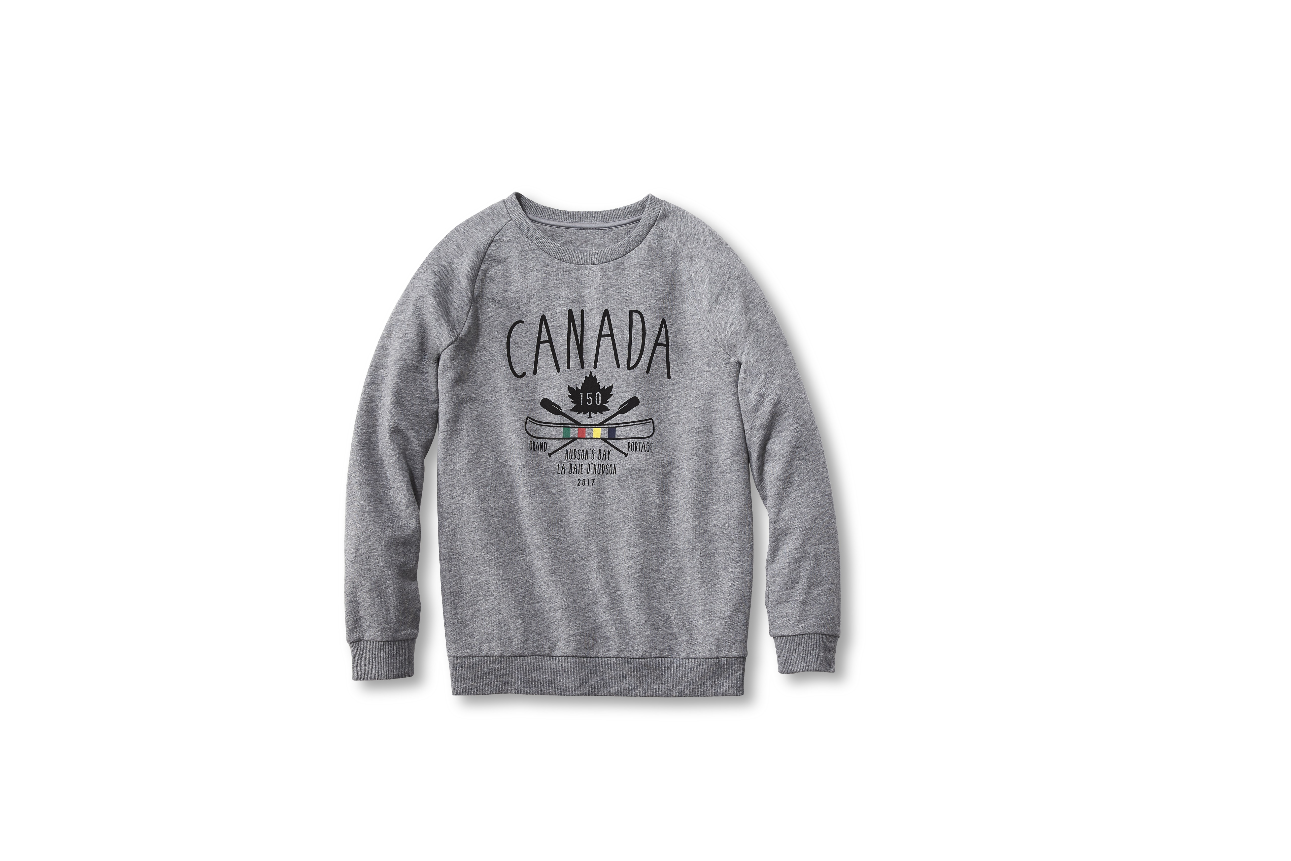 A Portage women's sweatshirt, part of Hudson's Bay's program to mark Canada's 150th birthday