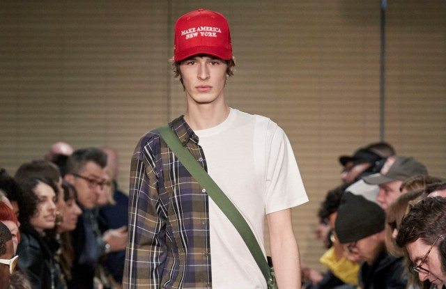 The hats were featured on the Public School runway for fall.