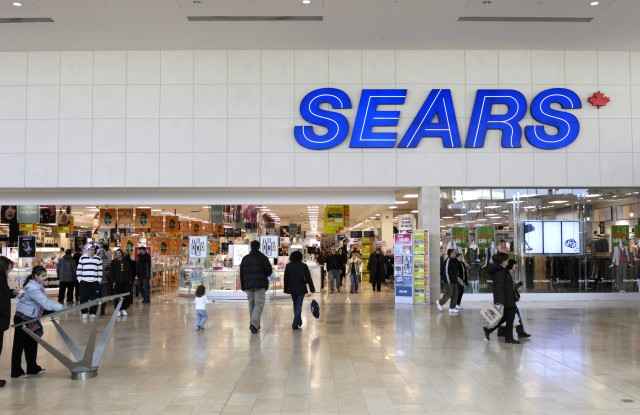 People entering Sears store, Yorkdale Shopping Centre, Toronto, Canada, Northern AmericaVARIOUS
