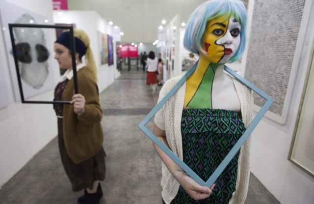 March is art month in Hong Kong.