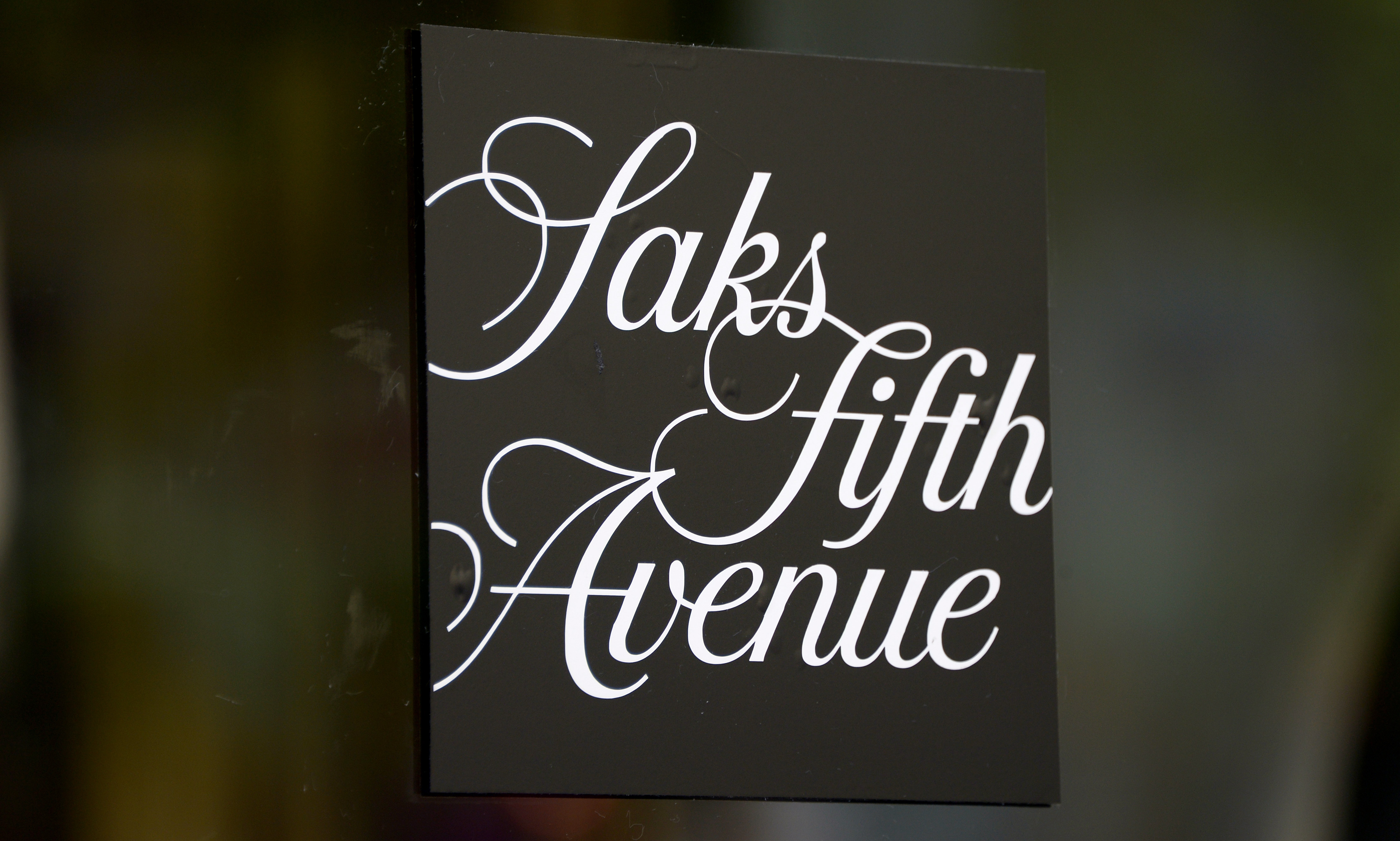 A View of a Sign at a Saks Fifth Avenue Store in New York New York Usa 30 July 2013 Reports on 29 July State That Saks Fifth Avenue Will Be Sold to Hudson's Bay a Company Based in Canada who Also Owns the Store Lord & Taylor For 2 4 Billion Us Dollars United States New YorkUsa Saks Fifth Avenue - Jul 2013
