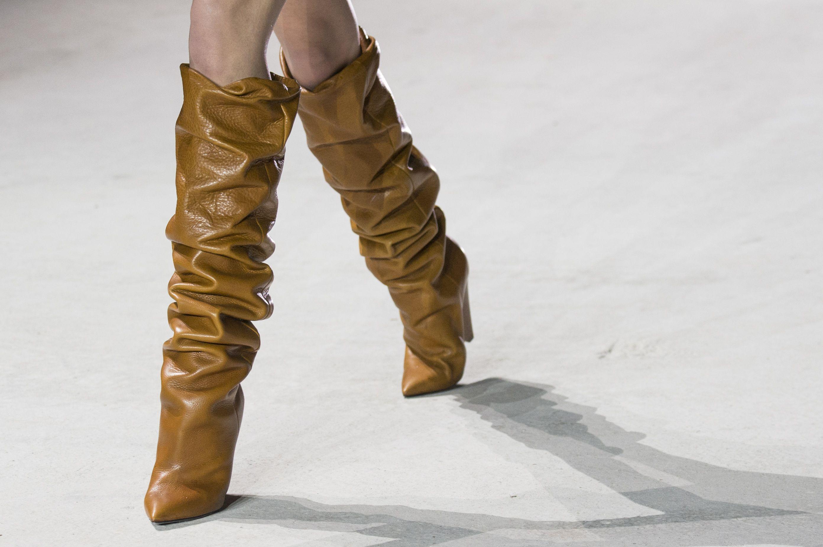Model details on the catwalkSaint Laurent show, Runway, Autumn Winter 2017, Paris Fashion Week, France - 28 Feb 2017