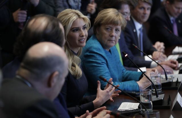 Ivanka Trump Angela Merkel White House