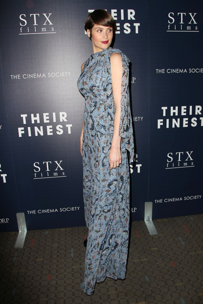 Gemma ArtertonSTXfilms & EuropaCorp with The Cinema Society Host the Premiere of 'THEIR FINEST', New York, USA - 23 Mar 2017 WEARING ERDEM MORALIOGLU